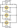 parallel bulbs voltmeter